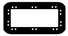 Faça três conjuntos de orifícios nos lados longos, e dois conjuntos sobre os lados curtos da tampa